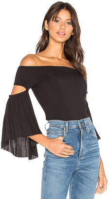 Bailey 44 White Bay Top in Black $148 thestylecure.com