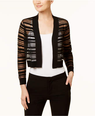 Calvin Klein Sheer-Stripe Shrug