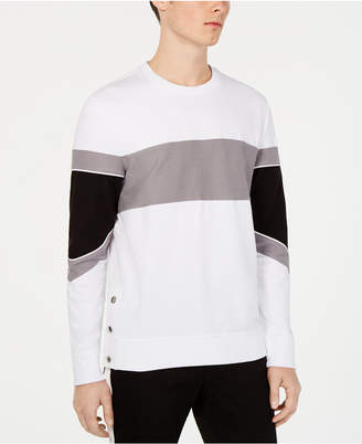INC International Concepts I.n.c. Men Long-Sleeve Colorblocked T-Shirt