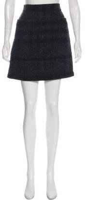 Burberry Wool Check Skirt