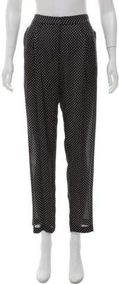 Jonathan Saunders Mid-Rise Silk Pants