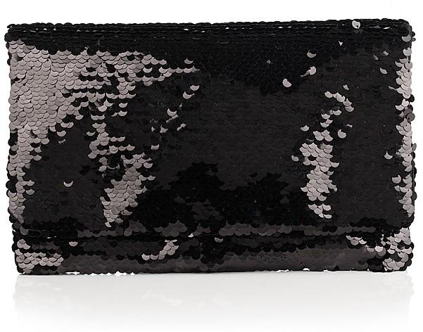 BCBGMAXAZRIA Paillette Envelope Clutch