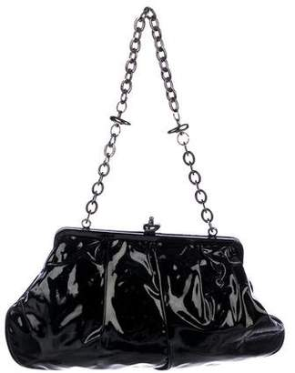 Herve Leger Patent Leather Frame Bag
