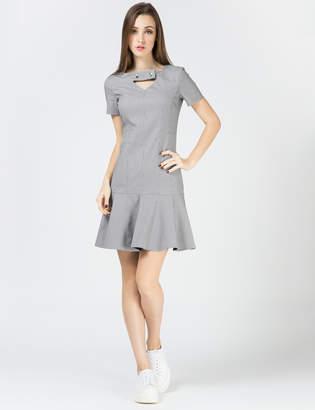 Carven Black/White Light Micro Houndt Dress