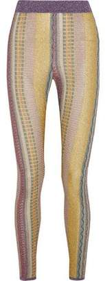 Missoni Metallic Crochet-Knit Leggings