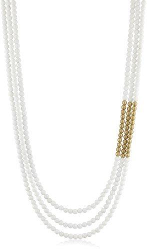 K. Amato Two Tone White Beaded Necklace