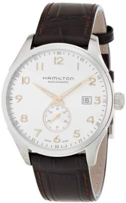 Hamilton Men's 'Jazzmaster' Swiss Automatic Stainless Steel and Leather Casual Watch