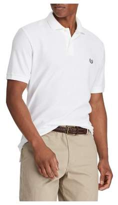Chaps Men's Short Sleeve Solid Pique Polo with Stretch