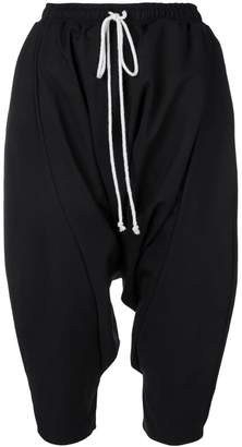 Alchemy drop-crotch cropped trousers