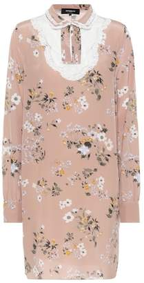 Rochas Printed silk mini dress