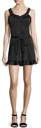 Nanette Lepore Sleeveless Ruffled Romper with Belt $398 thestylecure.com