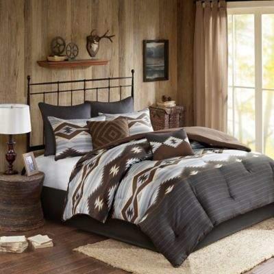 Woolrich® Bitter Creek Full Comforter Set in Grey/Brown