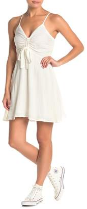 re:named apparel Sloan Cinched Fit & Flare Dress