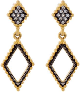 Freida Rothman Gold-Tone Diamond-Shaped Drop Earrings