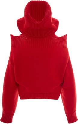 Monse Upside Down Wool Turtleneck Sweater