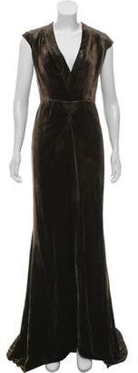 Oscar de la Renta Velvet Evening Dress