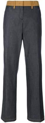 No.21 contrast waist trousers