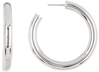 Jessica Simpson Tube Post 38mm Hoop Earrings