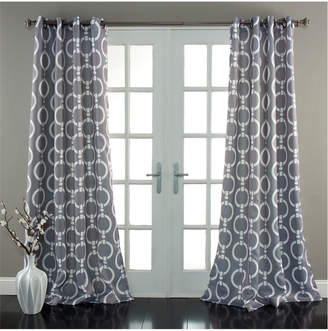 Do Not Use Triangle Home Chainlink Set Of Two Grey Window Curtains