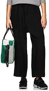 Yohji Yamamoto Women's Linen Drawstring Pants - Black