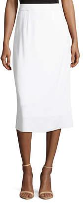 Misook Lined Straight Pull-On Skirt, Petite