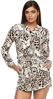 Women's Jennifer Lopez Roll-Tab Crepe Romper $70 thestylecure.com