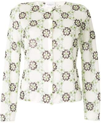 Giambattista Valli floral embroidered cardigan