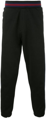 McQ Alexander McQueen side stripe track pants $365 thestylecure.com