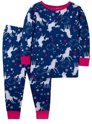 Little Star Organic Cotton Long Sleeve Tight Fit Pajamas, 2pc Set (Baby Girls & Toddler Girls)