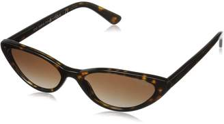 Vogue Women's Plastic Woman Cateye Sunglasses, Black