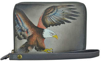 Anuschka RFID Blocking Eagle Zip-Around Leather Organiser Wallet