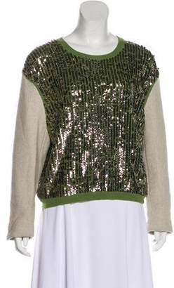 3.1 Phillip Lim Sequined Long Sleeve Sweatshirt