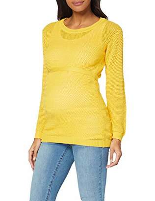 Mama Licious Mamalicious Mlcrystaline L/s Knit Blouse A. V Jumpers for Women Yellow Super Lemon, (Size: Small)