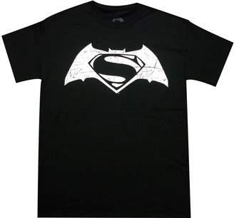 Superman Batman VS And White Movie Logo Tee Shirt