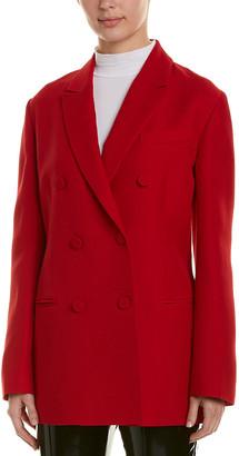 Valentino Double-Breasted Silk & Wool-Blend Blazer
