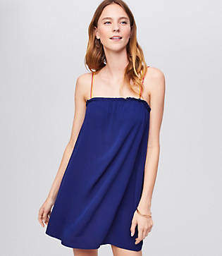 LOFT Beach Strappy Swing Dress