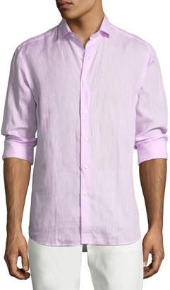 Ralph Lauren Solid Linen Sport Shirt, Pink