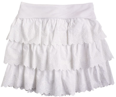 Tiered Eyelet Skirt