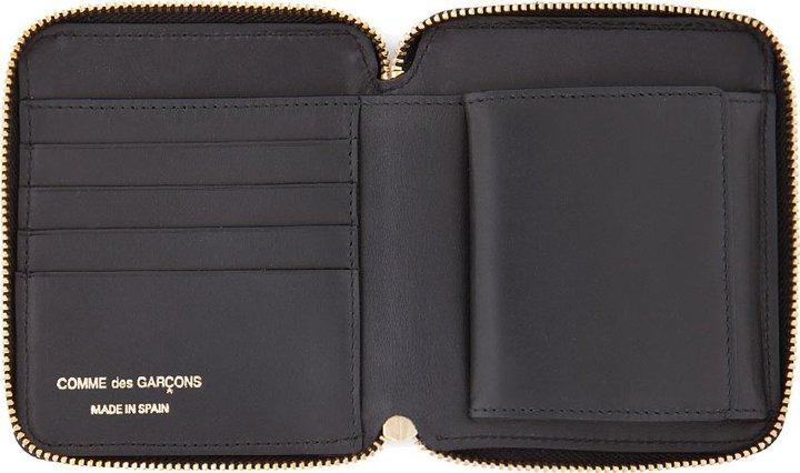 Comme des Garcons Wallets Lined Black Zip Wallet