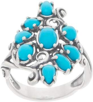 Carolyn Pollack Sleeping Beauty Turquoise Sterling Silver Cluster Ring