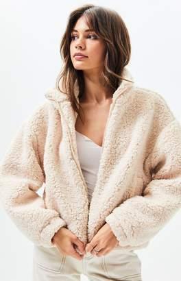La Hearts Ivory Sherpa Jacket