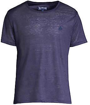 Vilebrequin Men's Linen Crew T-Shirt