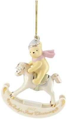 Lenox 2017 Winnie the Pooh Baby's 1st Christmas Hanging Figurine Ornament