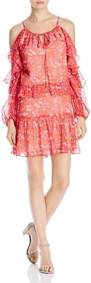 Adelyn Rae Ruffle Chiffon Cold Shoulder Dress $110 thestylecure.com