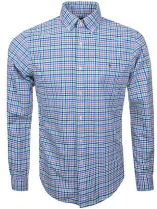 Ralph Lauren Checked Shirt Blue