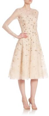 Oscar de la Renta Embellished Lace Cocktail Dress $6,790 thestylecure.com