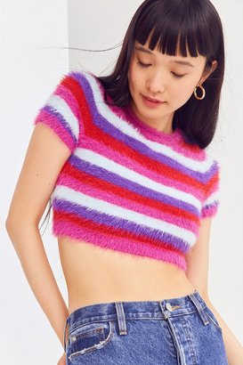 Kimchi Blue Fuzzy Cropped Tee $44 thestylecure.com