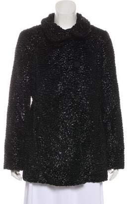 Armani Collezioni Metallic Short Coat