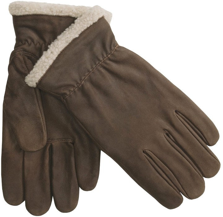 Cire by Grandoe Aviator Sheepskin Gloves (For Men) 2