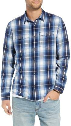Treasure & Bond Slim Fit Plaid Flap Pocket Sport Shirt